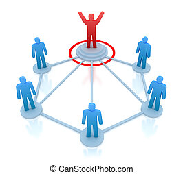 diriger, sien, travail, éditorial, équipe