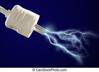discharge., électrique