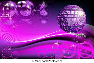 disco-ball, fond