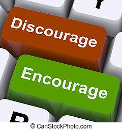 discourage, clés, motiver, dissuader, encourager, ou