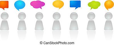 discussion, panneau