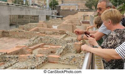 discuter, ruines, touristes, serdica, sofia
