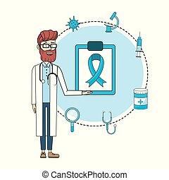 disgnosis, consultation, stéthoscope, traitement, docteur