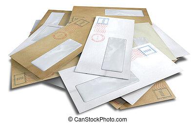 dispersé, enveloppes