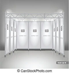 display., commercer, stand, exposition