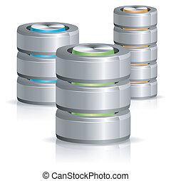 disque, base données, dur, icône