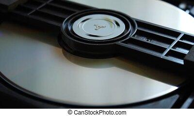 disque, intérieur, disk., dvd, extrait, téléchargement, player.