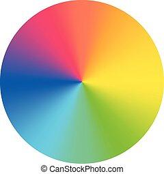 disque, wheel., coloré, vecteur, couleur