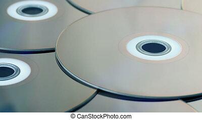 disques, rayon, closeup, blu