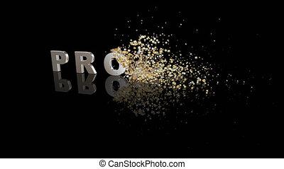 dissoudre, texte, profit, particules