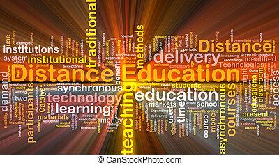 distance, incandescent, concept, education, fond