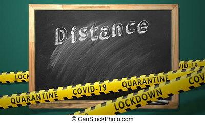 distance, normal, education., concept., nouveau