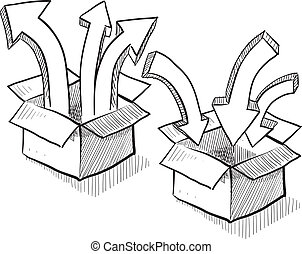 distribution, emballage, expédition