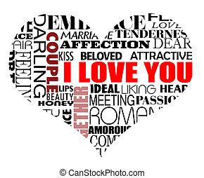 divers, amour, mots
