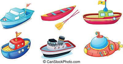 divers, bateaux
