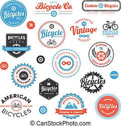 divers, emblèmes, étiquettes, vélo