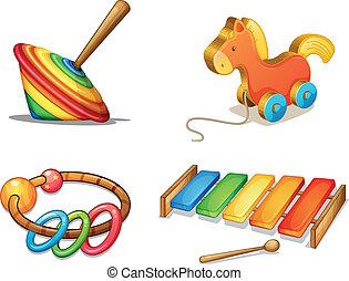 divers, jouets