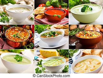 divers, soupes