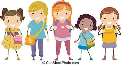 diversité, âge, filles