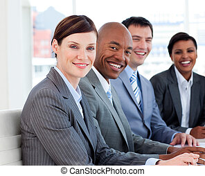 diversité, business, projection, groupe, ethnique, réunion