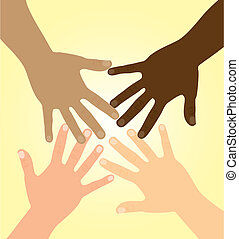 diversité, mains