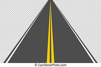 division, 10, asphaltez route, eps, mener, distance, transparent, arrière-plan., bande