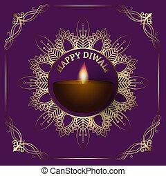 diwali, décoratif, fond, frontière, 2809