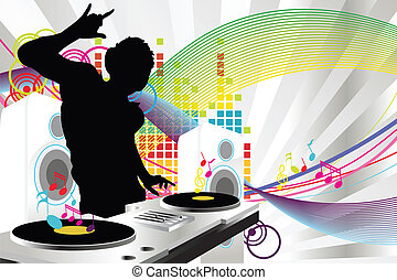 dj, musique