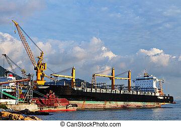 dock, chantier naval, bateau