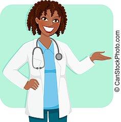 docteur féminin, noir