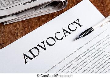 document, advocacy, titre