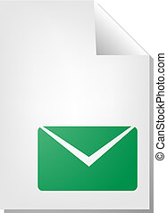 document, enveloppe, icône