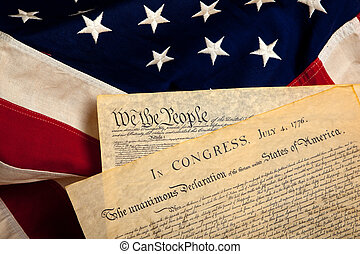 documents, américain, historique, drapeau