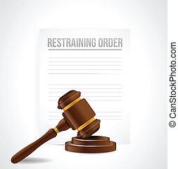 documents., ordre, illustration, restreindre