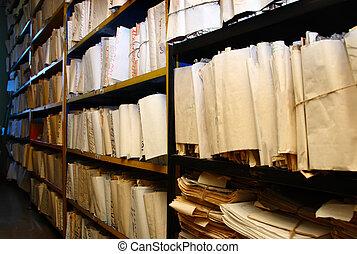 documents, papier, archive
