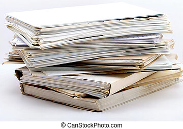 documents, pile