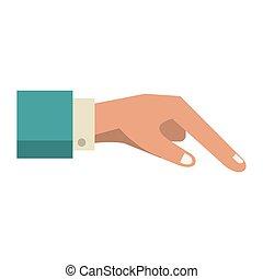 doigt, humain, dessin animé