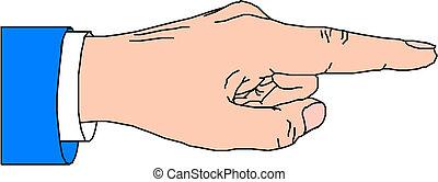 doigt indique
