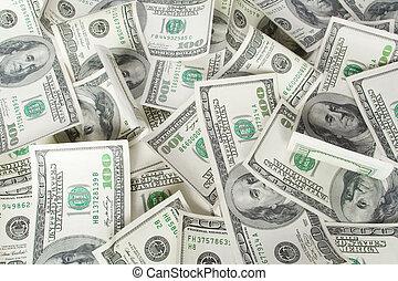 dollars., fond, argent