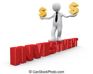 dollars, investissement