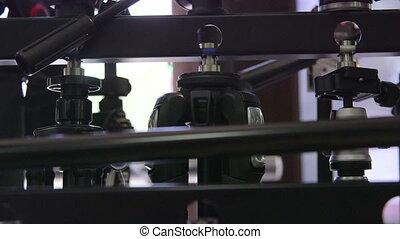 dolly:, tripods, vente, équipement, appareil photo, photographique, magasin