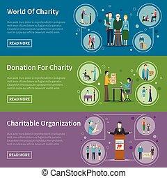 donation, bannières, charité