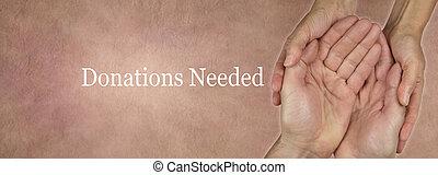 donations, site web, needed, bannière
