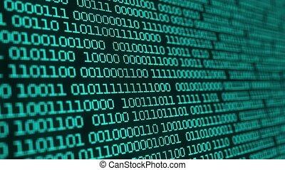 données, hud, numérique, algorithm, decryption, matrice, concept, age., coder, code, rang, binaire, interface, arrière-plan.