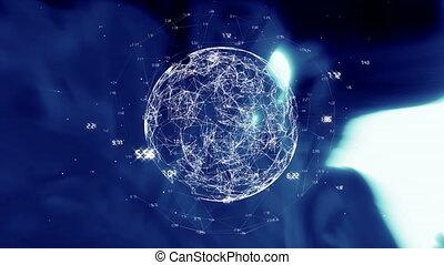 données, numérique, globe, tourner