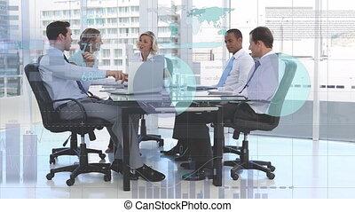 données, professionnels, groupe
