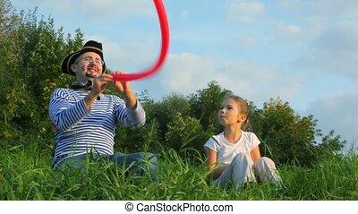 donner, balloon, air, déguisement, girl, pirate, homme