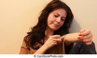 donner, injection, 2, femme