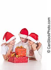 dons, santa, famille