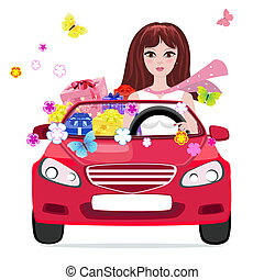 dons, voiture, girl